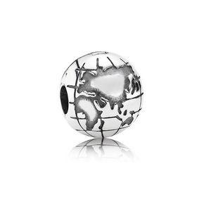 2 Pandora Globe Clips